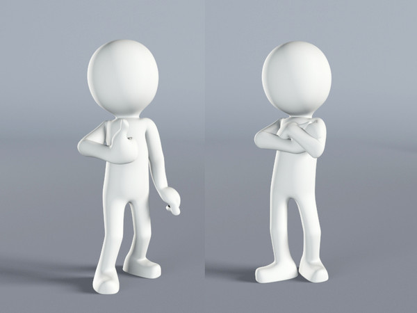 character white human stickman 3d max - 3d white stickman, human, character... by niezlabiba