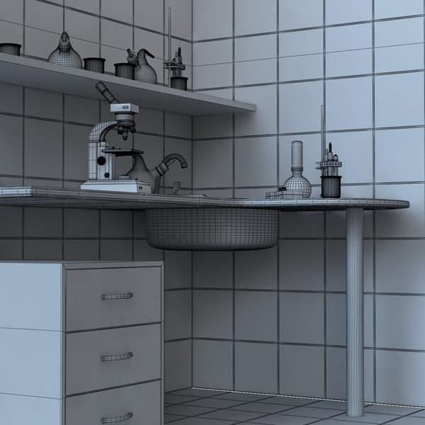 3dsmax research laboratory - Laboratory - Piece of Interior... by dimosbarbos