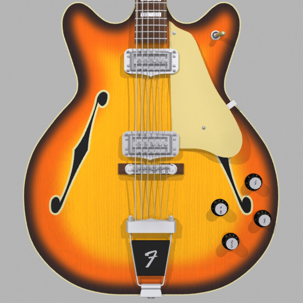 guitar fender coronado max - Fender Coronado Guitar: Sunburst Finish: Max Format... by phantomliving