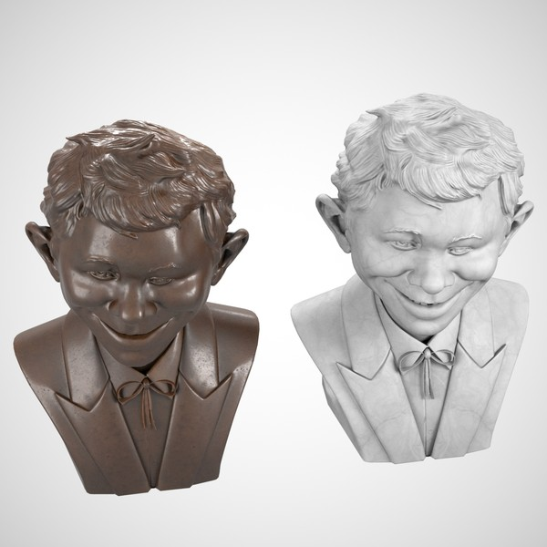 3d model decorative bust alfred e - Alfred E. Neuman Bust... by clay master