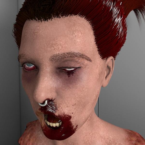 head pale c4d - Impaled Mutilated Girl Corpse... by scyrus