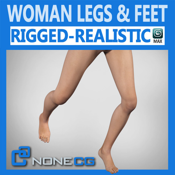 3ds max realistic female legs feet - Adult Female Legs and Feet... by NONECG