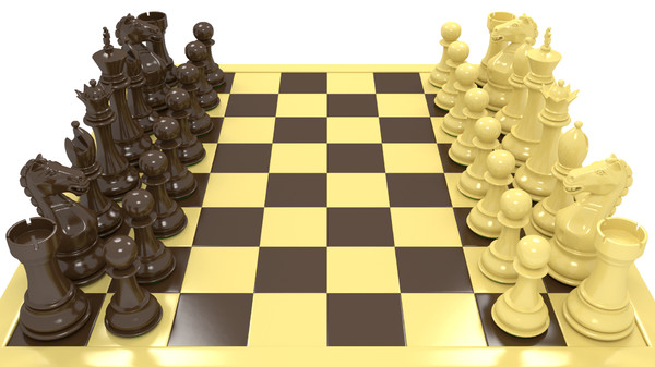 3d pawn settings - Deluxe Staunton Chess Set... by 3DinHD
