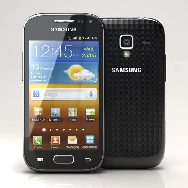 samsung galaxy ace 2 3d c4d - Samsung Galaxy Ace 2 I8160 Black... by 3dtoss