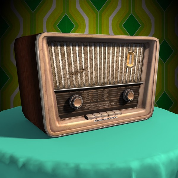 old radio 3d obj - Old Radio... by Braindrain85
