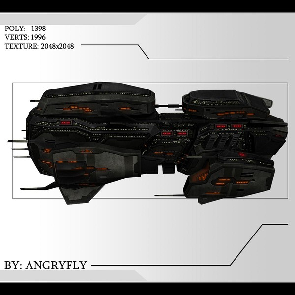 3d fighter destroyer model - Battle_Cruiser_1... by Angryfly