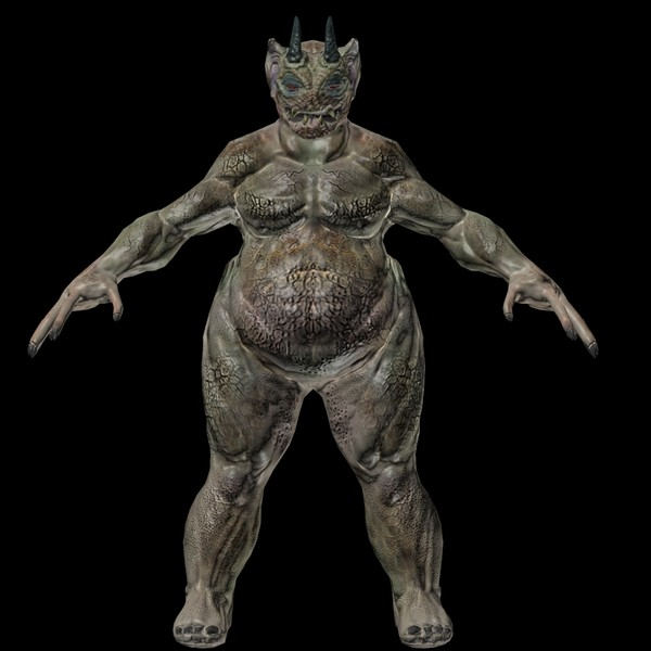 3d max creature demon - Fat Monger Demon... by andrew alonso