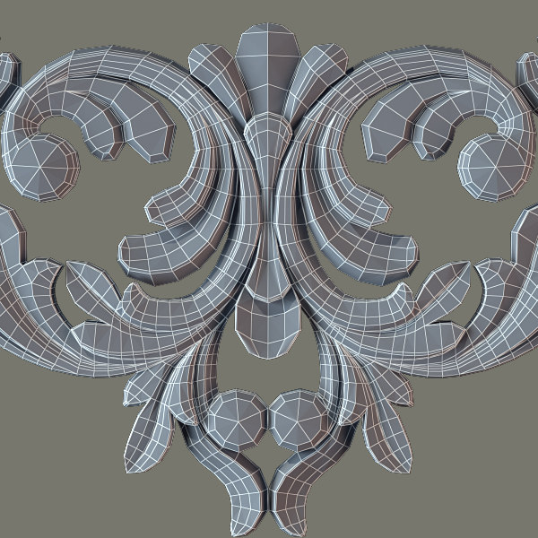 decorate facades 3d model - Molding e39 Cartouche... by Makhota
