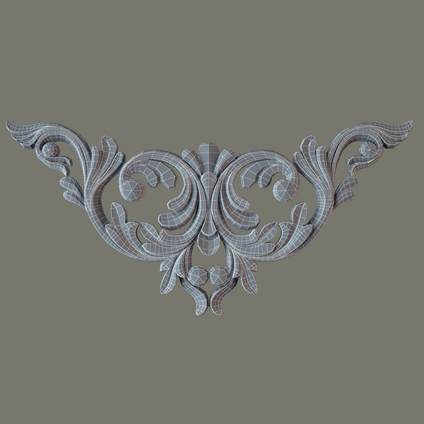 3d model decorate facades - Molding el39 Cartouche... by Makhota