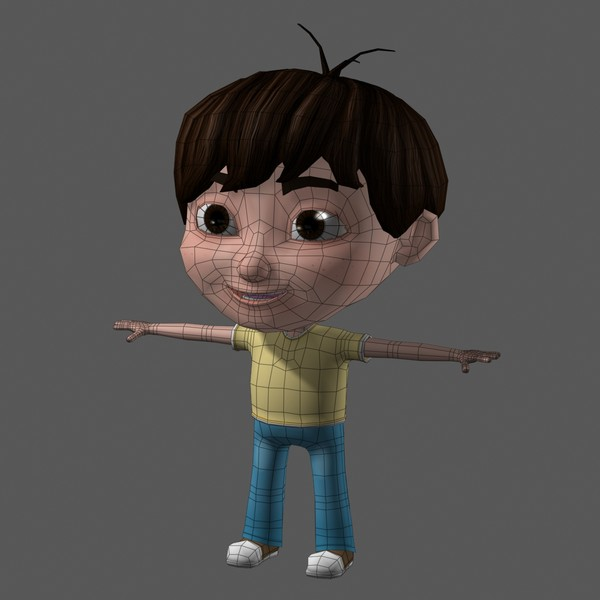 3d model cartoon child - Cartoon Kid 04 Nice Boy... by Denys Almaral