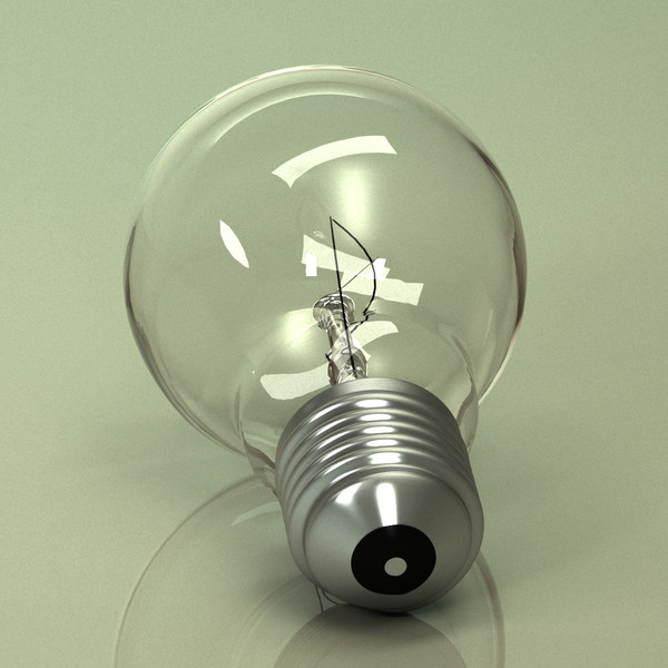 light bulb 3d model - Light Bulb... by mardiner