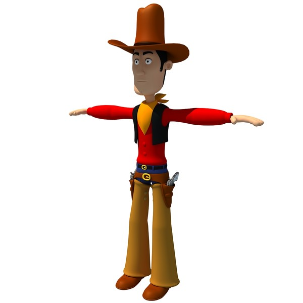 3d model rigged cartoon cowboy character biped - Rigged Cartoon Cowboy Character... by Gandoza