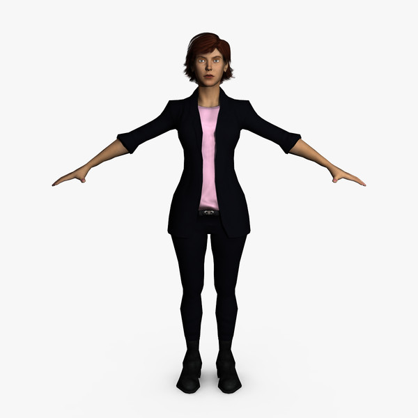 3d casual female character - Casual Female 08... by ignisfatuus