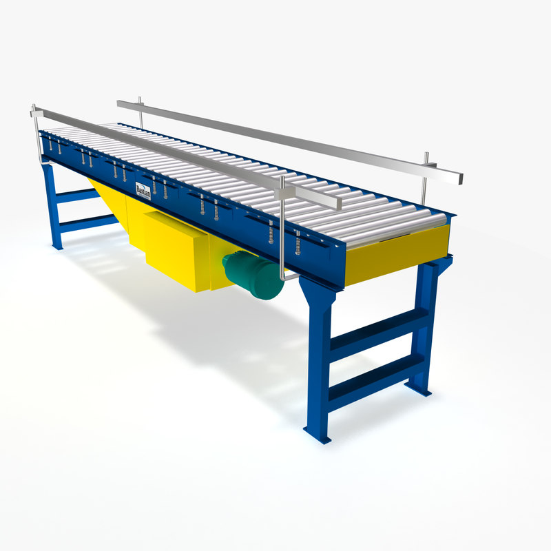 Conveyor - Live Roller Flat Belt Driven Minimum Pressure Accumulating 10 Ft