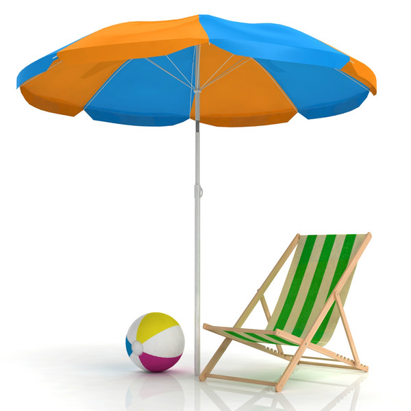 beach chair umbrella 3d model - Beach Chair and Umbrella... by sweiry_tv