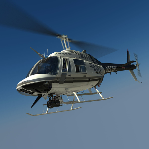 3d bell helicopter san diego - Bell 206 Jetranger San Diego Police... by dynamo3D