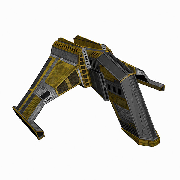 low-poly spaceship space 3d model - Spaceship #AA1 Low-Poly Model... by Mister A
