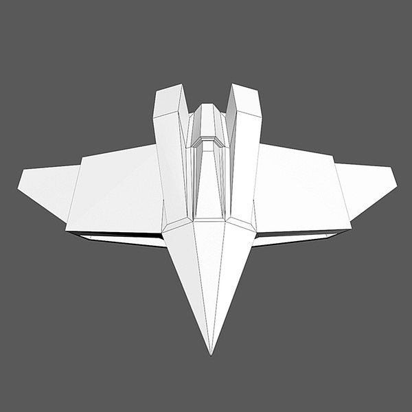 max low-poly spaceship space - Spaceship #AA3 Low-Poly Model... by Mister A