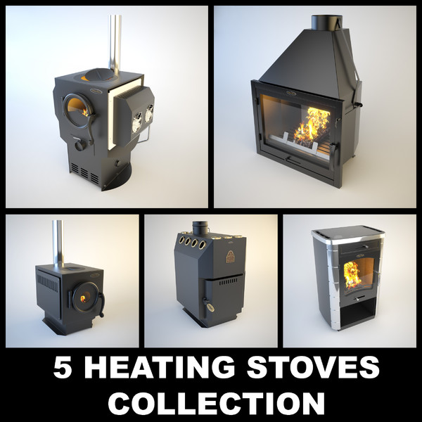 stove siber heating 3d max - 5 SiberStove Heating Stoves... by temp64GTX