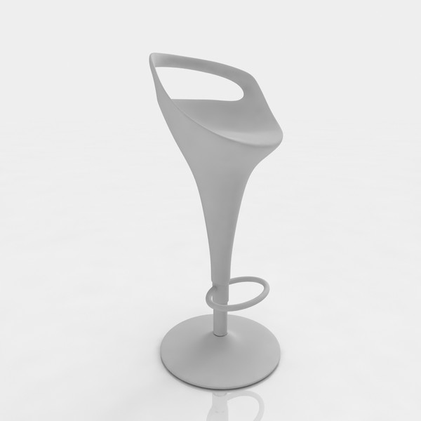 bar stool 3d model - Bar stool 8 black plastic... by razlomov
