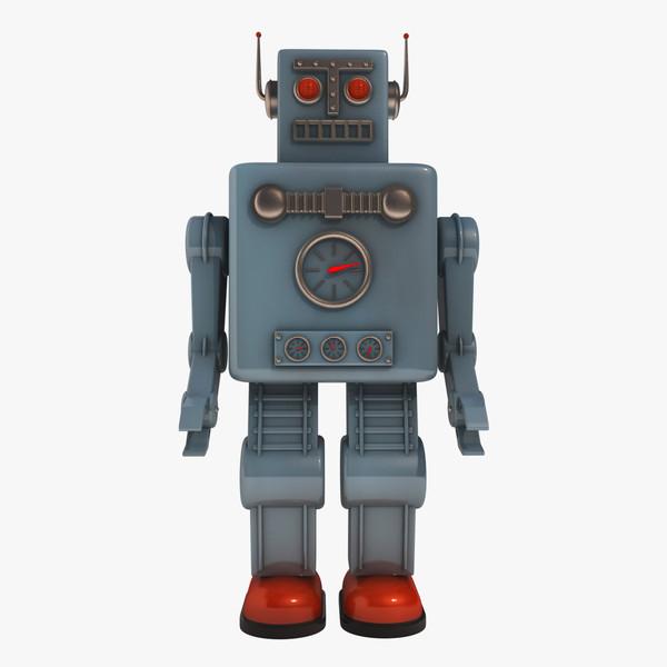 maya vintage robot toy高清图片