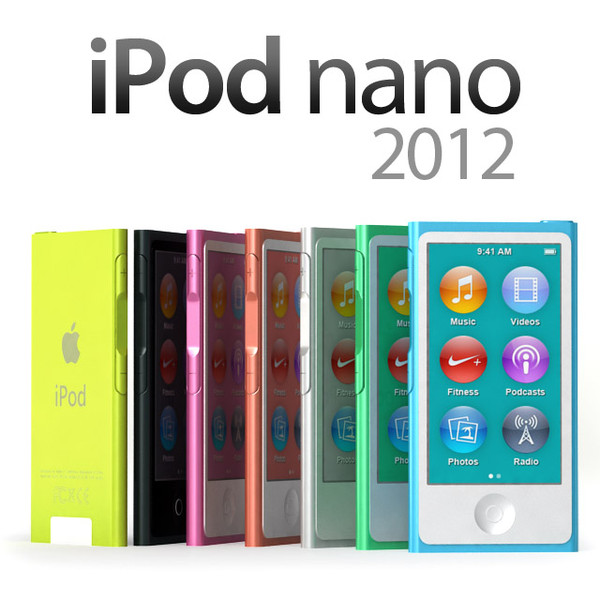 3dsmax apple ipod nano 2012 - iPod Nano 2012... by sweiry_tv