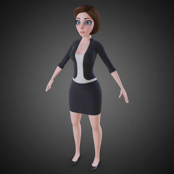 3ds max cartoon woman - Cartoon Woman... by IndieArt