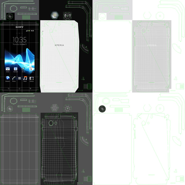 version sony xperia j 3d model - Sony Xperia J White Version... by Leeift