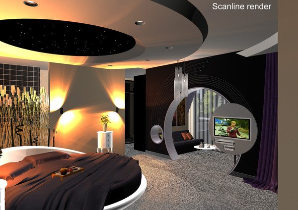 3d max modern bedroom design bed - Modern Bedroom... by solarseas