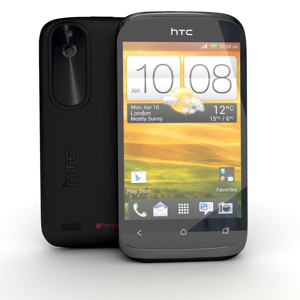 htc desire x black 3d model - HTC Desire X Black and White... by Leeift