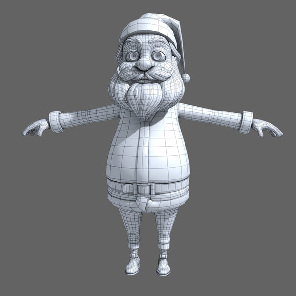 3d santa male man model - Santa... by cgSorcerer