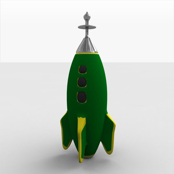 spaceship rocketship 3ds - Toy Rocketship B... by MP Design