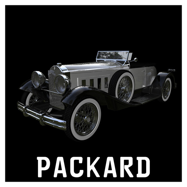 cinema4d packard speedster 1930 - PACKARD Speedster Eight 1930... by NGC4051
