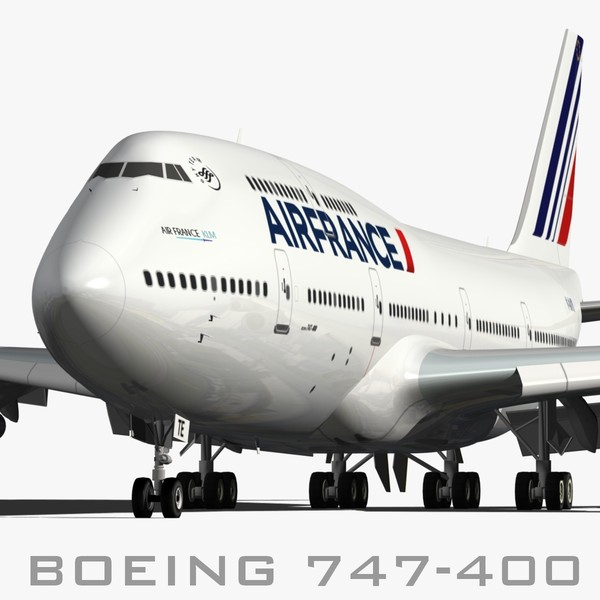 3d boeing 747-400 air france model - BOEING 747-400 AIR FRANCE... by EGPJET3D