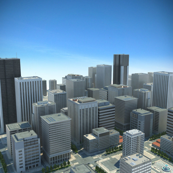 City Big Cityscape 3D Models
