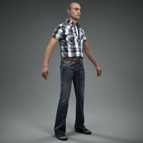 3d axyz character human model - CMan0010-M4-CS... by axyzdesign