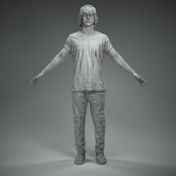 axyz character human 3d model - CMan0011-M4-CS... by axyzdesign