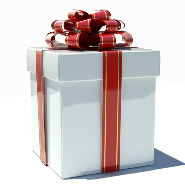 3d model gift box white - Gift Box White... by thePROmax