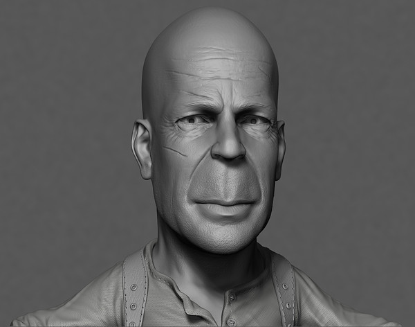 3d model actor bruce willis - Male Bruce Willis Cartoon... by CG ARTStudio