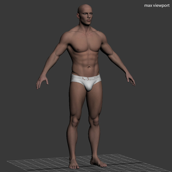 3d realistic male body character - Realistic Male Body... by illusionist3d