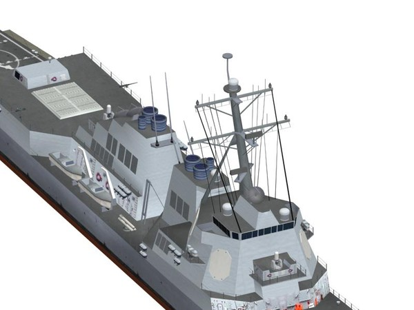 3d model arleigh burke class destroyer - Arleigh Burke Class Destroyer... by FangioDesign