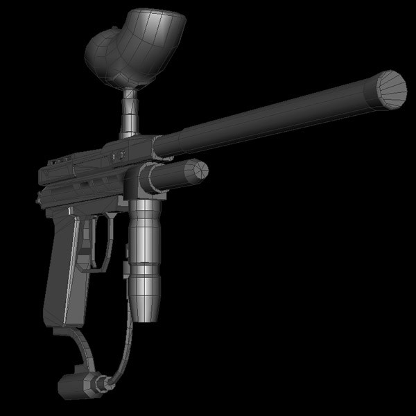 3d paintball gun - Paintball Gun... by 3D Pro Models