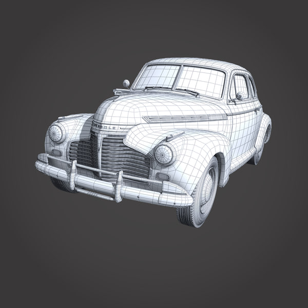 3d model chevrolet 1941 - chevrolet 1941... by cgSorcerer