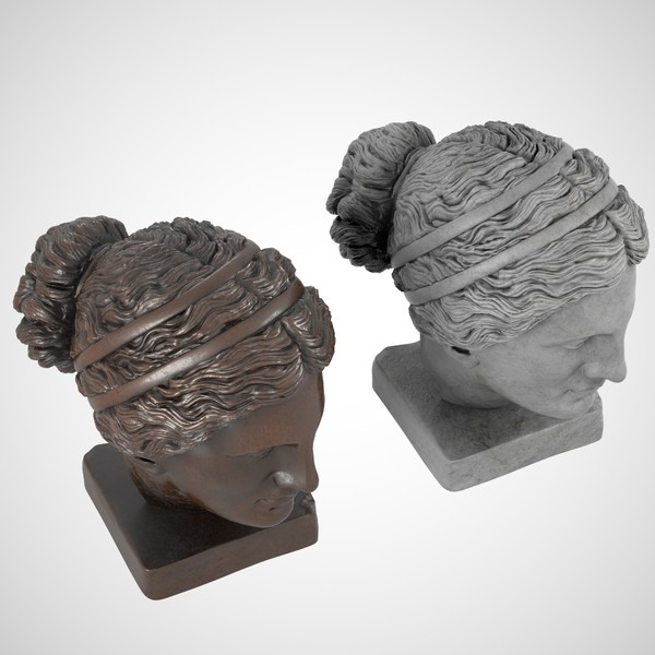 3d model head sculpture aphrodite - Aphrodite Head Sculpture... by clay master