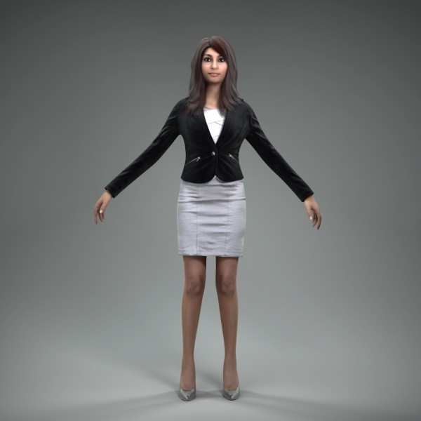 3d axyz character human model - BWom0009-M4-CS... by axyzdesign