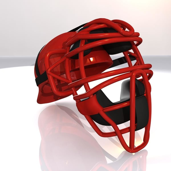 catcher mask baseball 3d 3ds - Catcher... by Jeffrey Oswald