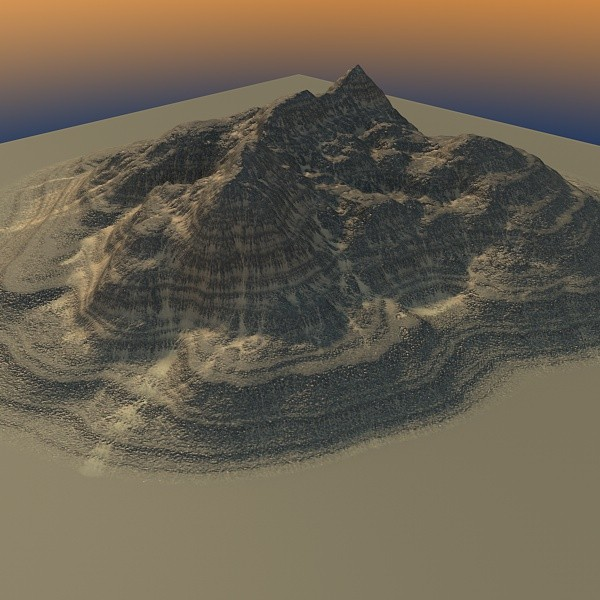 3ds max mountain maps terrain - MountainBLL-1... by ERLHN