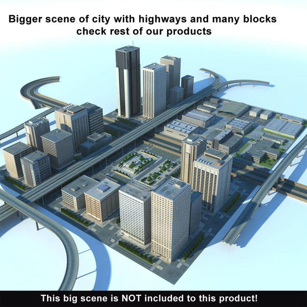 city big cityscape buildings 3d max - City Big Cityscape... by 3D_Multimedia