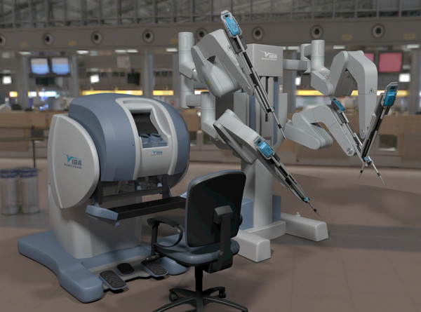3d da vinci surgical robot - Da Vinci Surgical Robot... by damaggio