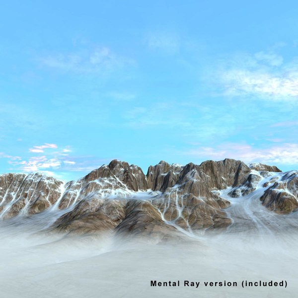 snowy mountain snow rock landscape 3d model - Mountain Terrain Landscape Snowy... by 3D_Multimedia